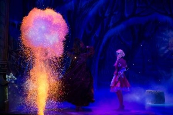 Le Maitre pyro helps create a great pantomime atmosphere