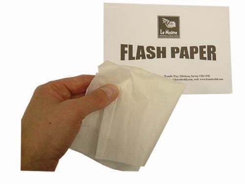 Flash Paper / Cotton / Cord / Cloth